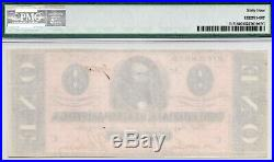 Authentic 1864 CIVIL War $1 Dollar T-71 Csa Confederate Pmg Choice Unc 64