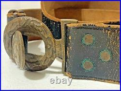 Authentic CIVIL War Confederate Officer'cs' Two Piece Belt Buckle & Belt (2d)