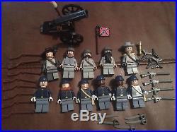 Authentic Lego U. S. Civil War Union Confederate Minifigure Lot B Custom Troops