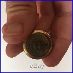 Authentic & Rare Non-Dug Civil War Era Confederate Navy Coat Button Real Deal