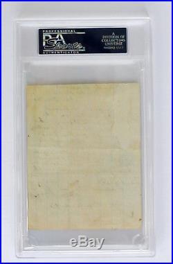 BRAXTON BRAGG Civil War Dated 1862 VERY RARE PSA/DNA Confederate CSA AUTOGRAPH