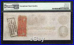 BRIGHT T-41 1862 $100 CONFEDERATE Civil War Currency CSA PMG 64 EPQ 100932