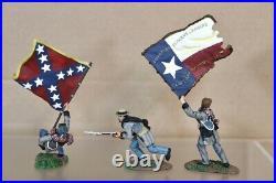 BRITAINS 17016 AMERICAN CIVIL WAR CONFEDERATE LONE STAR SET BOXED nv