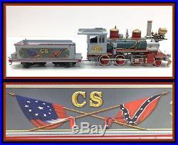 Bachmann Hawthorne Village Civil War Confederate Train Steam Engine and Tender