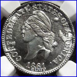 Bashlow Restrike 1861 Confederate Cent in Silver, MS67 NGC, CSA Civil War Token