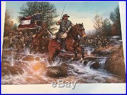 Battle Of Stones River John Paul Strain, CIVIL War Print Confederate