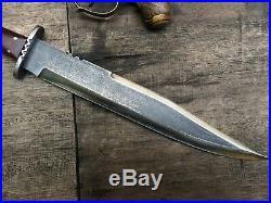 Big Custom Handmade Confederate CIVIL War Gaucho Coffin Bowie Forge Alamo Hunter