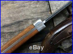 Big Custom Handmade Confederate CIVIL War Gaucho Coffin Bowie James Black 1830