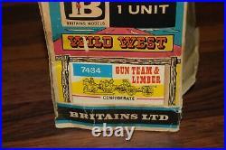 Britains 7434 American Civil War Gun Team & Limber Confederate wild west Boxed
