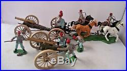 Britains 7434 Confederate American Civil War Gun Team & Limber Cannon And Crew