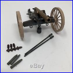 Britains Confederate American Civil War 12 Pounder Gun & Crewithbox & Parrot Shell