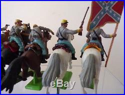 Britains Deetail American Civil War Confederate Cavalry Soldiers full set of 6