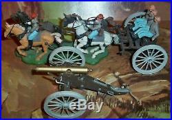 Britains Eyes Right American Civil War Confederate Team 7434 Gun Team & Limber