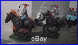 Britains No 7434 American Civil War Confederate Soldiers Limber Gun Team Acw