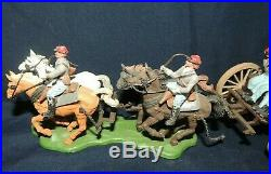 Britains Swoppet Confederate CIVIL War Gun Team And Limber With Cannon #7434