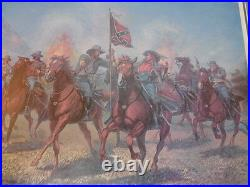 Bruce Marshall Historic CIVIL War Confederate Courage Signed Framed Art Print