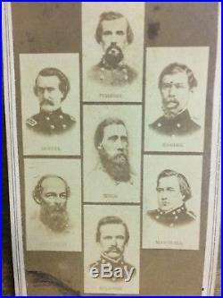 CDV Civil War Confederate Generals Of The South General Forrest, General Hood