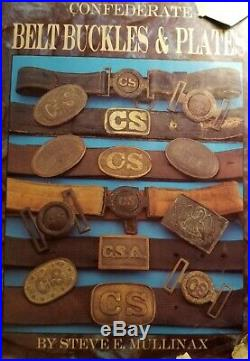 CIVIL WAR CONFEDERATE PEWTER CSA BUCKLE Broken C S only remains