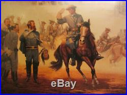 CIVIL WAR CONFEDERATE PRINT MOSBY REPORTS SIGNED by DALE GALLON #552 of #750