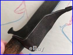 CIVIL WAR ERA CONFEDERATE KNIFE Cs Richmond, Virginia Marked Sch Fur Co Unusual