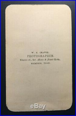 CIVIL WAR ERA CONFEDERATE LONG BEARD CDV by W. E. CRAVER MEMPHIS, TENN