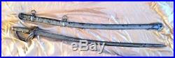 CIVIL WAR MODEL 1840 WRISTBREAKER CONFEDERATE CAVALRY SWORD, Repro