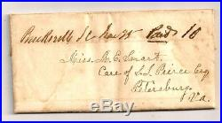 CIVIL WAR Stampless CONFEDERATE Folded Letter UNLISTED BUCKSVILLE SC PAID 10