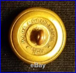 CIVIL War Button 2pc Confederate Mississippi Infantry Uniform Albert's Mp-4 Coat