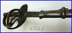 CIVIL War Cavalry Confederate Sword Dated 1862 With Inscription