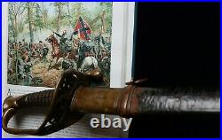 CIVIL War Confederate A H Dewitt Snakes In Guard Officer Sword 1 Of 20 Existance
