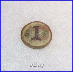 CIVIL War Confederate Block I Infantry Button Dug Near Shelbyville, Tennessee