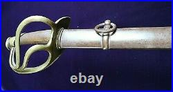 CIVIL War Confederate M 1840 Cavalry Sword With Confederate Etching On Blade
