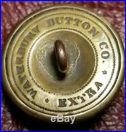 CIVIL War Confederate Missouri Coat Button Waterbury Button Co Extra
