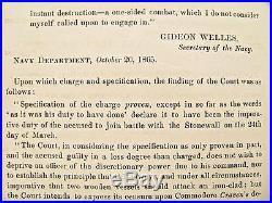 CIVIL War Confederate Navy Ironclad Css Stonewall Order 1865