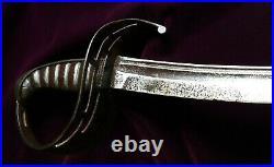 CIVIL War Confederate Rare 2nd Model Virginia Manufactory Cavalry Sword 44 Inch