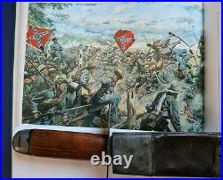 CIVIL War Confederate Rare Bowie Knife W Original Scabbard Not Sword Ca 1861