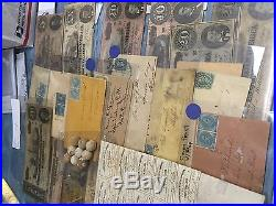 CIVIL War Confederate/csa Lot(12 Items) Currency+stamps+bond+bullets+covers