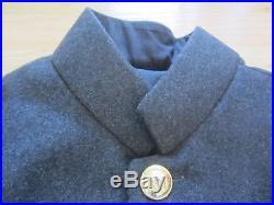 CIVIL War Csa Confederate Dark Grey Shell Jacket-medium