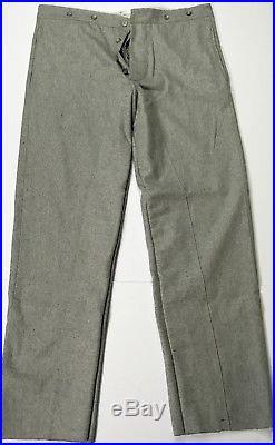 CIVIL War Csa Confederate Grey Wool Trousers-large