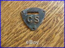 CIVIL War Era C S Stamped Confederate Cavalry Saddle Shield