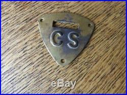 CIVIL War Era Cs Stamped Saddle Shield Confederate Cavalry