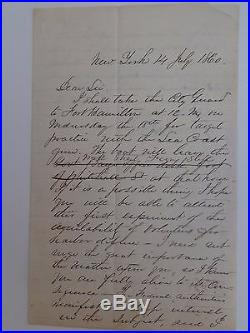 CIVIL War General Mansfield Lovell Signed Letter Confederate
