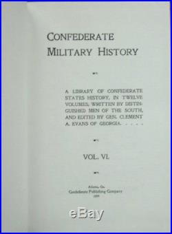 CONFEDERATE MILITARY HISTORY 16 Vol Set 1994 Reprint ARCHIVES SOCIETY Civil War
