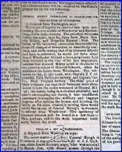 CONFEDERATE Vicksburg MS & FORT SUMTER Charleston SC Civil War 1863 VA Newspaper