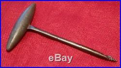 CS Richmond Arsenal CONFEDERATE Civil War Pewter & Iron Gimlet Artillery Tool