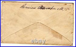 CSA 10c Confederate Civil War Bellevue LA (DPO) 1863 to Capt Hyatt Alexandria LA
