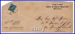 CSA #7 on Austin TX Official Business Confederate Civil War Envelope withCert 1863