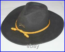 CSA CONFEDERATE REBEL CAVALRY Civil War Crossed Saber SLOUCH HAT YELLOW CORD New