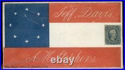CSA Civil War Confederate Patriotic Cover Jefferson Davis Alexander Stephe 92889