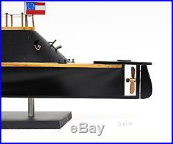 CSS VIRGINIA Civil War Ironclad Confederate Ship 28 Wood Model Boat Assembled